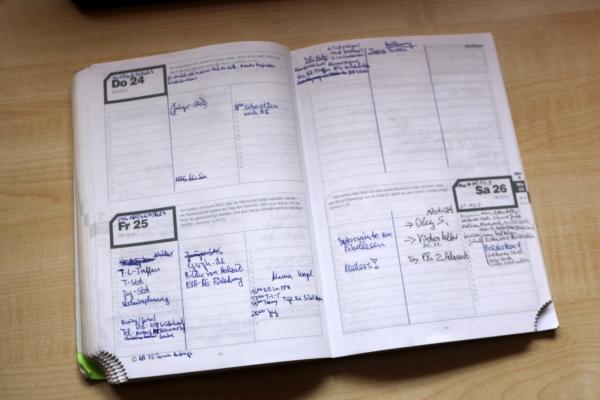 Normale Tagesplanung mit Platz für Aufgaben, Termine und Notizen